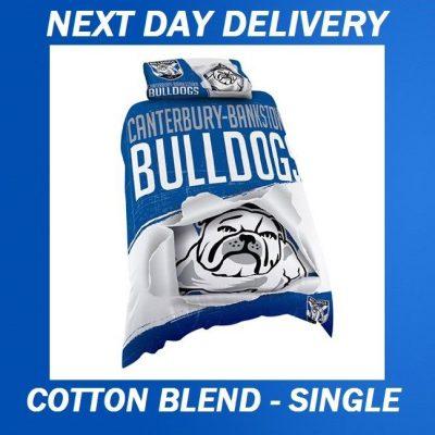 Canterbury Bulldogs Licensed Quilt Duvet Doona Bedding Cover Sets
