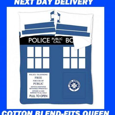Doctor Who Tardis Kids Licensed Quilt Duvet Bedding Cover Sets