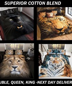 Animal Kingdom Cats Kids Licensed Quilt Duvet Bedding Cover Sets