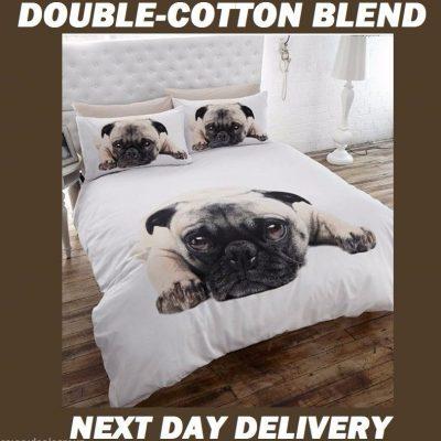 Puppy Pug Pooch Kids Licensed Quilt Duvet Bedding Cover Sets