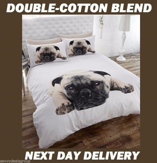 Puppy Pug Quilt Cover