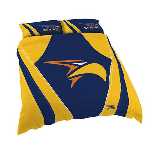 West Coast Eagles Double Duvet Doona Quilt Bedding Cover Set