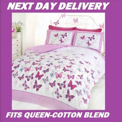 Butterfly Butterflies Queen Kids Licensed Quilt Duvet Bedding Cover Sets