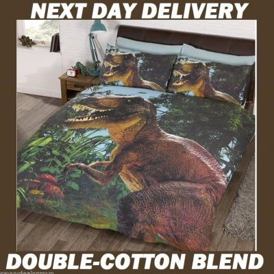 Jurassic Dinosaur T-rex Kids Licensed Quilt Duvet Bedding Cover Sets