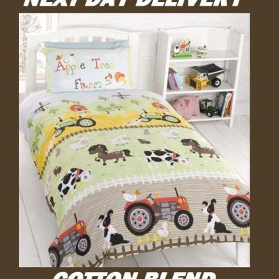 Farm Farmyard Tractor Kids Licensed Quilt Duvet Bedding Cover Sets