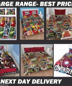 Avengers Infinity War Licensed Quilt Duvet Doona Bedding Covers Set