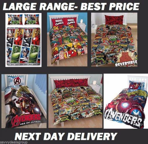 Avengers Infinity War Licensed Quilt Duvet Doona Bedding Covers Set