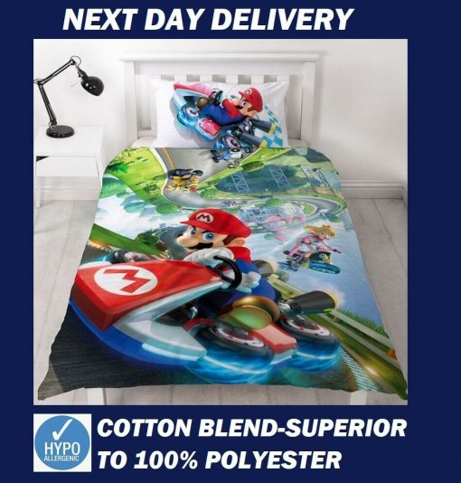 Super Mario Single Quilt Cover Set