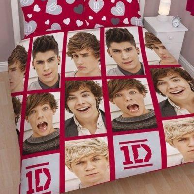 One Direction Queen Kids Licensed Quilt Duvet Bedding Cover Sets
