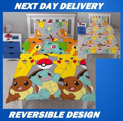 Pokemon Catch Single Kids Licensed Quilt Duvet Bedding Cover Sets