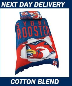 Sydney Roosters Licensed Quilt Duvet Doona Bedding Cover Sets