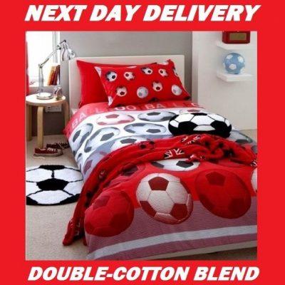 Soccer Football Double Kids Licensed Quilt Duvet Bedding Cover Sets
