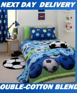 Boys Soccer Football Kids Licensed Quilt Duvet Bedding Cover Sets