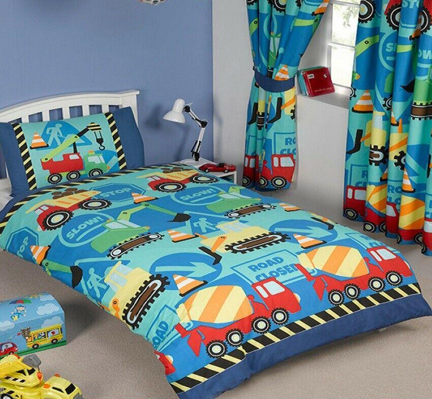 Construction Junior Toddler Quilt Cover Set - Cotton ...