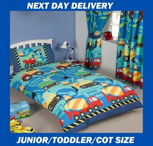 Construction Junior Toddler Quilt Cover