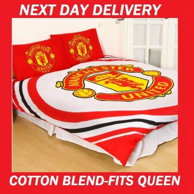 Manchester United FC Duvet Doona Quilt Fits Queen Bedding Cover Set