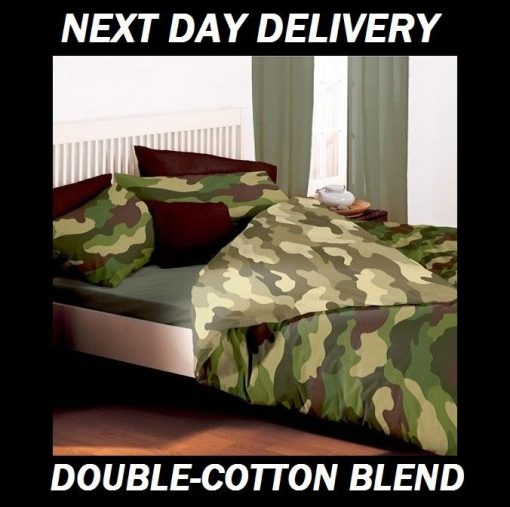 Army Camouflage Double Quilt Doona Duvet Cover Set