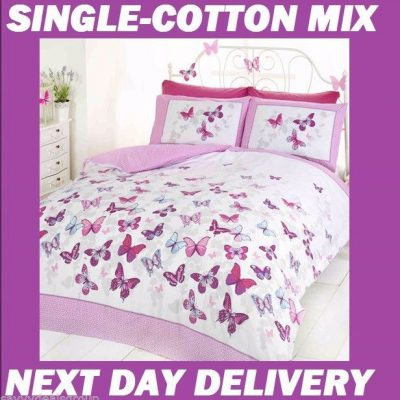 Butterfly Butterflies Single Kids Licensed Quilt Duvet Bedding Cover Sets