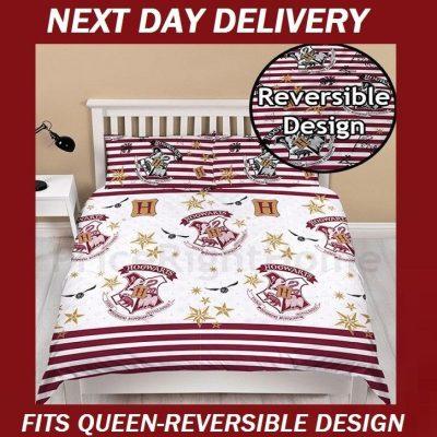 Harry Potter Hogwarts Fits Queen Duvet Quilt Doona bedding cover set