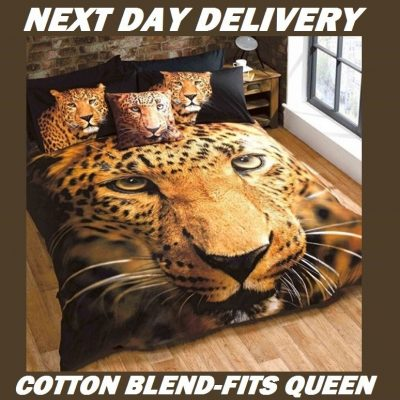 Leopard Animal Queen Kids Licensed Duvet Bedding Cover Sets