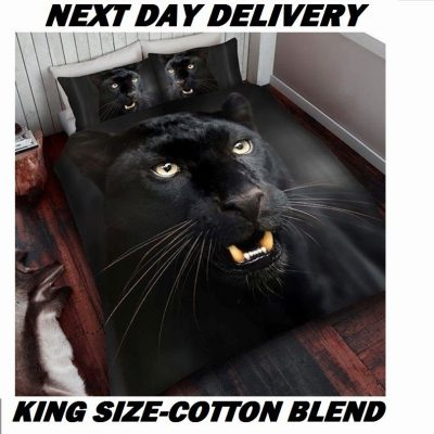Panther Animal Print King Kids Licensed Duvet Bedding Cover Sets