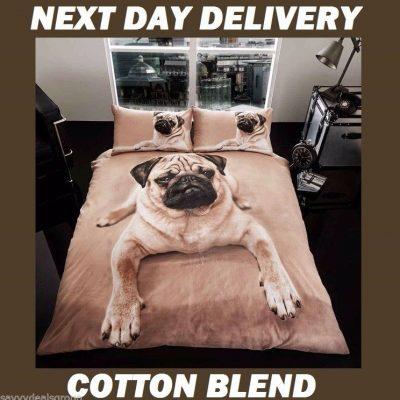 Dog Pooch Pug Kids Licensed Quilt Duvet Bedding Cover Sets