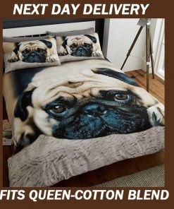Pug Puppy Quilt Cover
