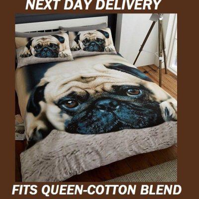 Pug Pooch Dog Licensed Quilt Duvet Doona Bedding